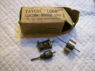 vintage taycol toy motors in box .