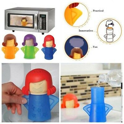 Angry Mama Microwave Cleaner Heat-resistant Disinfect Kitchen Gadget Tool Useful
