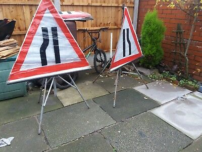 Roll Up Road Traffic Management Signs x6 Lights, Cone Signs job lot