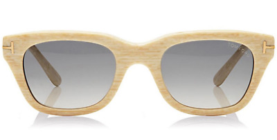 94ee92d9ed Authentic Tom Ford Snowdon FT0237 TF 237 60B Beige Acetate Sunglasses 50mm