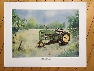 "John Deere A Tractor Print ""Out To Pasture"" Limited Edition signed and #'d /550"