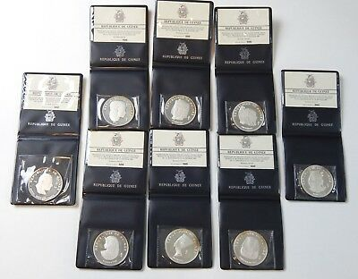 1970 Guinea - Set of Eight Coins
