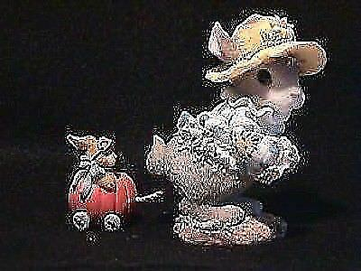 """NEW My Blushing Bunnies HALLOWEEN """"WHEREVER WE GO BLESSINGS ALWAYS FOLLOW"""" Dbl"""