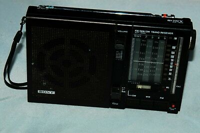 Sony ICF-7600 FM/SW/MW 7 Band AC/DC Portable Shortwave radio-- for parts
