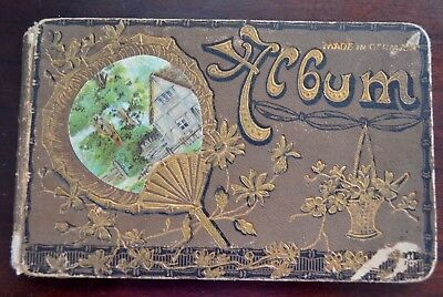 Antique Autograph Book Album 1894 Made In Germany Filled With Poems Kansas