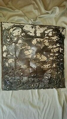 "ceiling tin  24"" x 24"" Full Piece Antique Vintage Reclaimed Salvage Art Craft"