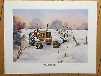 """Alllis Chalmers WD45 Tractor Print """"Out to Pasture"""" Limited Edition signed #'d"""