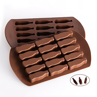 BU_ Durable Cake Mold Beer Wine Bottle Candy Jelly Pudding Baking PVC Mould Tool