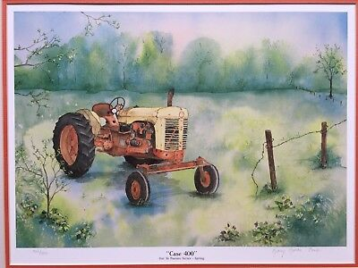 "Case 400 Tractor Print ""Out to Pasture"" Limited Edition signed #'d /550"