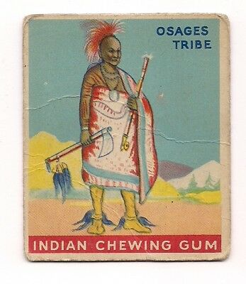 Indian Goudey Gum Card 1947 #17 Chief of the Osages Tribe FREE SHIPPING!