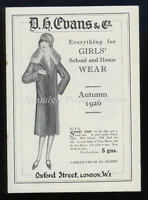 Clothing, Young Girls Promotional Leaflets .D H. Evans 1926