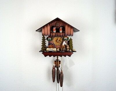 Large  Musical  Mechanical Cuckoo Clock,Dual Tune/ Dancers&Moving Axe Man, New