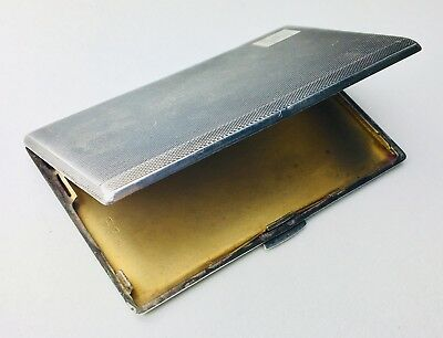 Antique Solid Sterling Silver 925 Cigarette Gentleman Case 167 grams / 5.8 oz