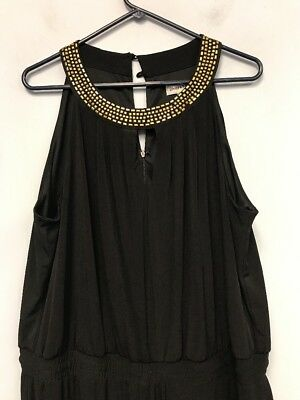 375c0fcb32d Women s Size 2X BLACK SLEEVELESS ROMPER MAXI JUMPSUIT DRESS BY SHELBY PALMER