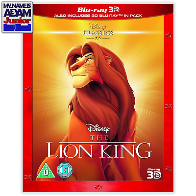 [DISNEY] THE LION KING Blu-ray 3D + 2D (REGION-FREE)