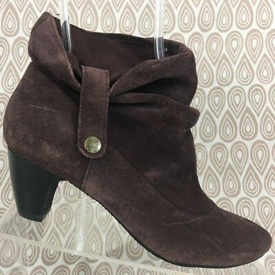 c16c22309dd Easy Spirit Burgundy Suede Leather Ankle Boots Booties Size 6.5 S121