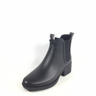 a2bee0219b1a30 TORY BURCH WOMENS Black Marion Quilted Rubber Rain Boots Sz 11B ...