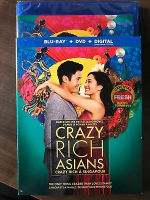 CRAZY RICH ASIANS Blu-Ray + DVD 2018 w Slipcover Art Canadian Bilingual LOOK