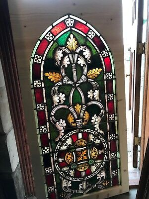 Sg2669 Antique Painted In Fire Gothic Arch Window 29 5/8 X 59.75 6 Av Sold Each