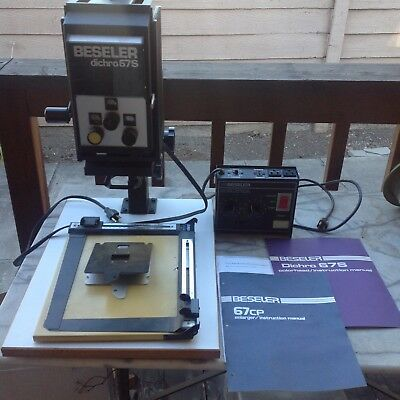 BESELER 67CP PHOTO ENLARGER 50mm lens, Dichro 67s, Timer and accessories