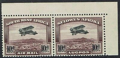South West Africa 1931 Airmail 10D Stamps Mnh ** Pair