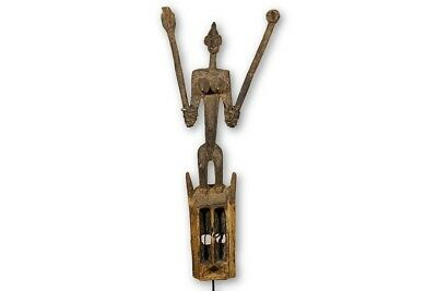 "Dogon African Satimbe Mask 54"" with stand - Mali"