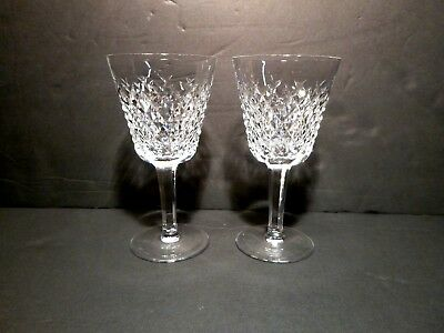"*EXCELLENT* Waterford Crystal ALANA (1952-) 2 Claret Wine 5 7/8"" Made in IRELAND"