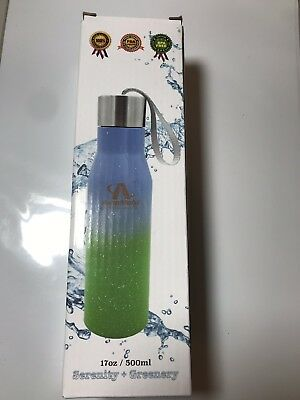 235654d838 Bear Grylls BLUE Triple Wall Vacuum Insulated Water Bottle 20oz NEW Ships  Fast!
