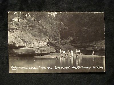 "RPPC Turkey Run IN; Table Rock ""The Old Swimming Hole"" Photo"