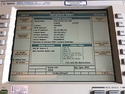 Agilent Keysight E5515C Opt 2,3,Amps/136,GSM/GPRS/EPGRS Mobile,WCDMA,Fast Switch