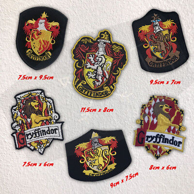 Harry Potter House Gryffindor Crest Collection badges Iron on Embroidered Patch