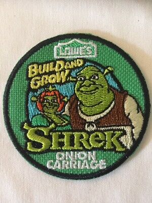 PATCH Badge Shrek Onion Carriage LOWES Build Grow Kids Clinic Patch