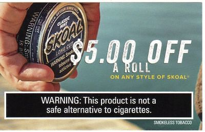 skoal, copenhagen, grizzly, coupons........big value
