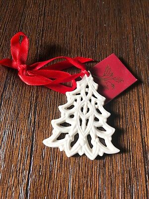 LENOX Pierced Modern Christmas Tree Holiday Charm Ornament
