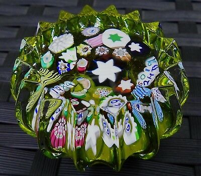 Perthshire John Deacons End Of Day Canes Millefiori Paperweight Beautiful!