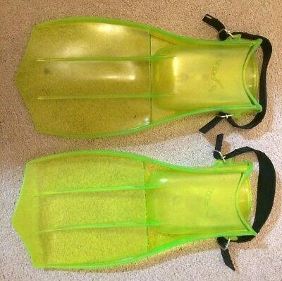Green flippers for swimming