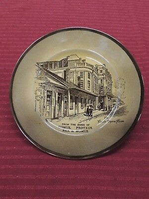 Rare, New Orleans Mardi Gras Souvenir Plate, The French Opera House, D.h. Holmes