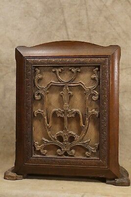 1920's-30's Temple Air-chrome Carved Wood Speaker Box Model 20 (Box Only)