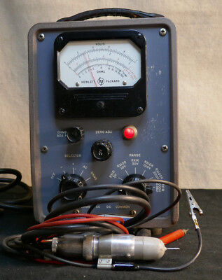 HP 410B ,VTVM, 410B Voltmeter, VTVM - RESTORED AND WORKING WITH MANUAL