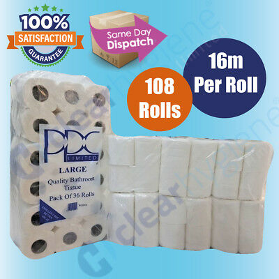 108 Rolls x 16m 2Ply Quilted & Embossed Family pack Toilet Tissue