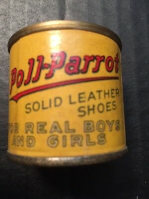 antique old tin POLL-PARROT SHOES BANK