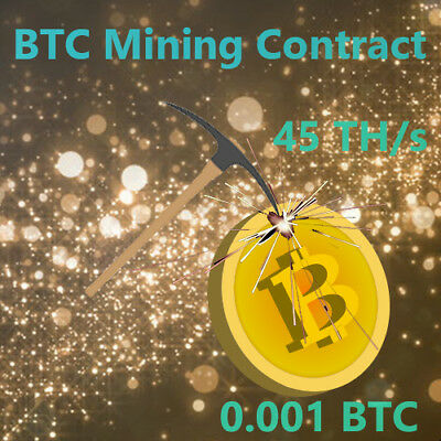 Bitcoin BTC Mining Contract for 0.001 BTC/Bitcoin 12 Hours Fast Processing Speed