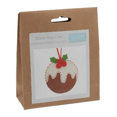 Make Your Own Felt Xmas Pudding Decoration Kit Trimits Christmas Crafts GCK025