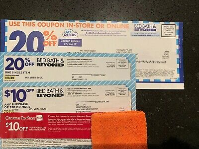 Lot Of (2) Bed Bath & Beyond Coupons And (1) Buy Buy Baby