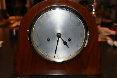 enfield smiths clock company vintage mantle clock chime 14 day striking clock