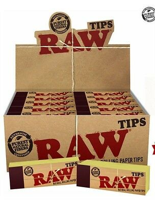 RAW TIPS Rolling Paper Original Roach Roaches Book Filter Unrefined Tips