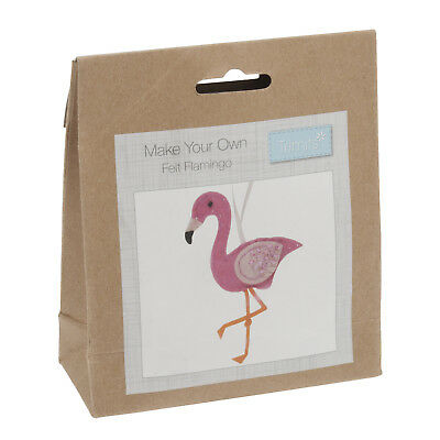 Make Your Own Flamingo Felt Hanging Decoration Kit - Trimits Beginners Crafts