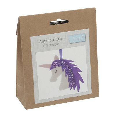 Make Your Own Unicorn Felt Hanging Decoration Kit - Trimits Beginners Crafts