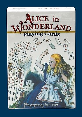 Alice In Wonderland Playing Cards, 54 Illustrations by Lewis Carroll - Blue Back