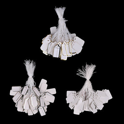 100X Labels Tie String Strung Price Tickets Jewelry Watch Clothing Display Tag—H